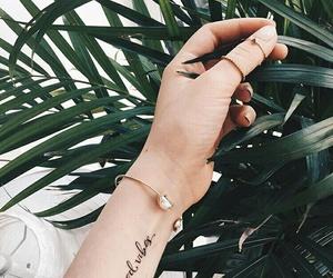 bracelet, plant, and tattoo image