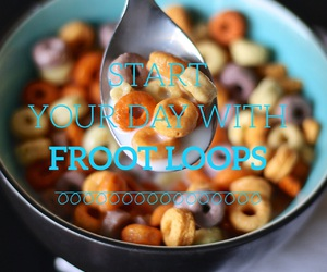 breakfast, easel, and frootloops image