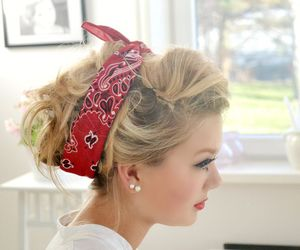 80's, bandana, and beautiful girl image