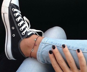 black, nails, and converse image