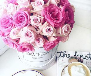 beautiful, bouquet, and coffee image
