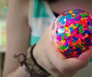 colorful, photography, and ball image