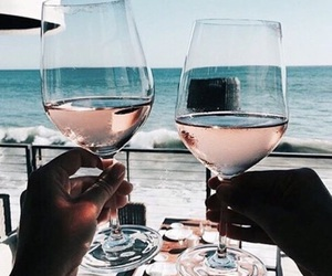 wine, summer, and drink image