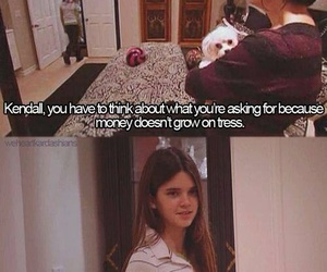 money, funny, and kendall jenner image