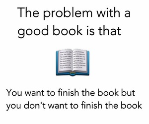 book, finish, and problem image