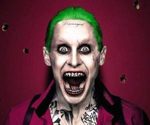 joker, suicide squad, and super villian image