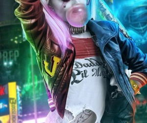 art, harley, and suicide squad image
