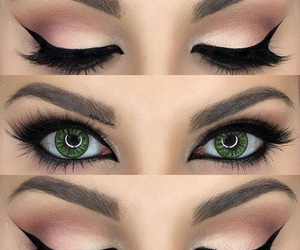 eyebrows, eyelashes, and makeup image
