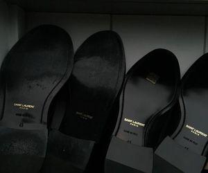 black, shoes, and saint laurent image