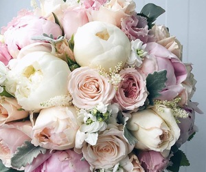 beautiful, white, and bouquet image