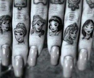 tattoo, princess, and disney image