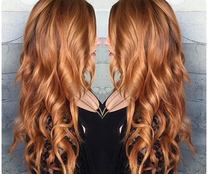 curls, hair, and strawberry blonde image