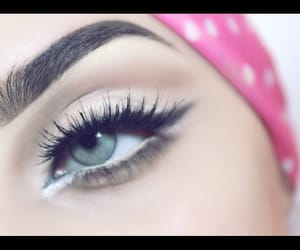 eyes, makeup, and video image