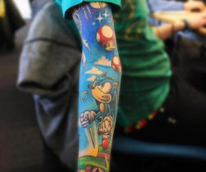 tattoo, sonic, and mario image