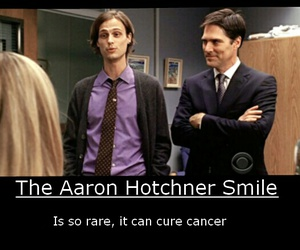 criminal minds, smile, and aaron hotchner image