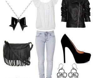bag, earings, and heels image