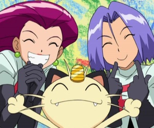 james, meowth, and pokemon image
