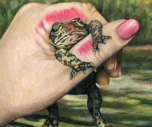 frog, kiss, and princess image