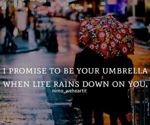 promise, umbrella, and quotes image