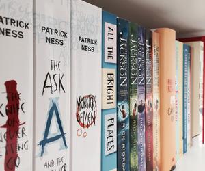 book, bookshelf, and reading image