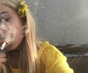 yellow, grunge, and smoke image