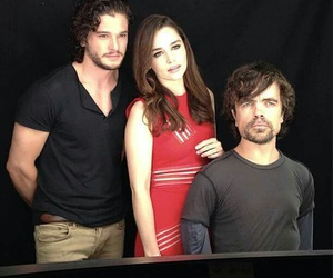 game of thrones, emilia clarke, and peter dinklage image