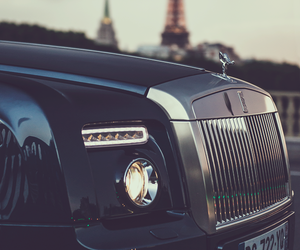car, paris, and rolls royce image