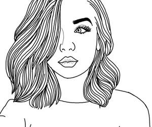 drawing, girl, and tumblr image