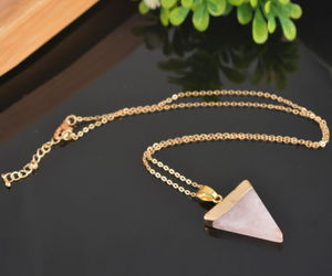 necklace, pink, and stone image