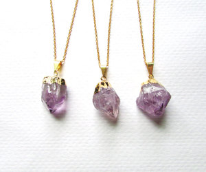 amethyst, etsy, and gold image