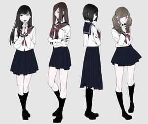 anime and skirt image