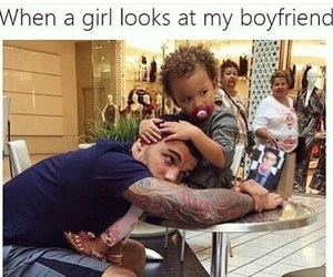 funny, boyfriend, and baby image