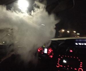 car, smoke, and night image