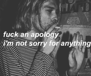 apology, cigarette, and music image