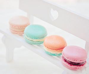 food, macaroons, and pastel image