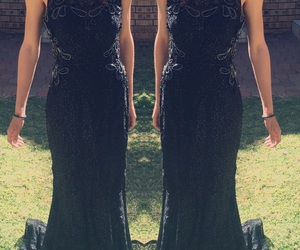 black, classy, and dress up image