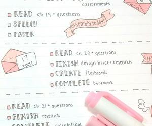 handwriting, homework, and kawaii image