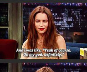 funny, game of thrones, and emilia clarke image