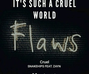 cruel, Lyrics, and music image