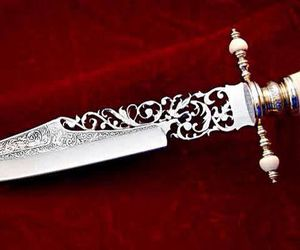 knife, aesthetic, and dagger image