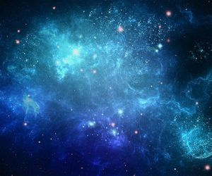 blue, space, and stars image