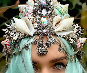 mermaid, crown, and Queen image