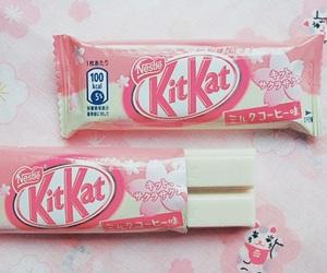 pink, kitkat, and food image