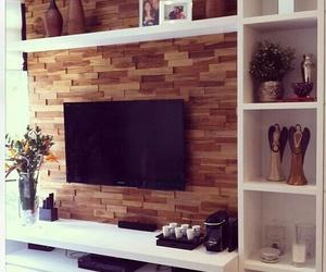 sala, decoração, and prateleiras image