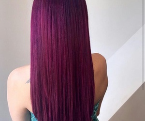crimson, hair, and mulberry image