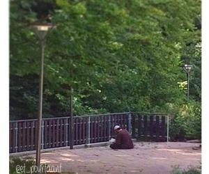 men, park, and muslim image