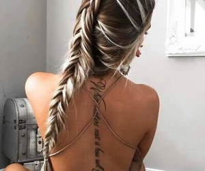 back tattoo, girl tattoo, and cool image