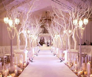 wedding, white, and pink image