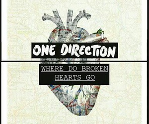one direction, four, and where do broken hearts go image
