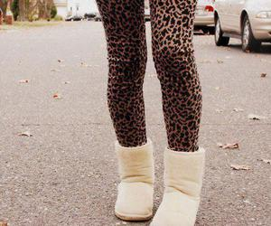 fashion, uggs, and leopard image